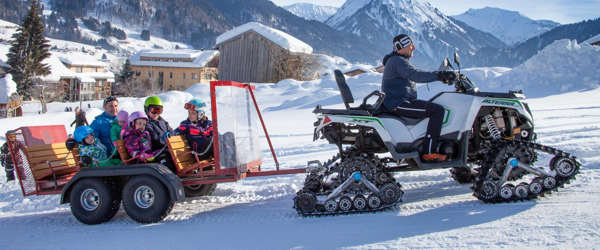 Quadtransport im Alpenhotel Post